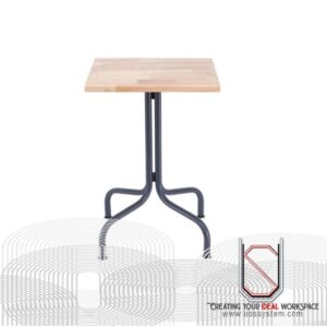 Discussion Table With Metal Leg