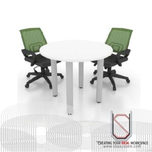 Discussion Table With Round Metal leg